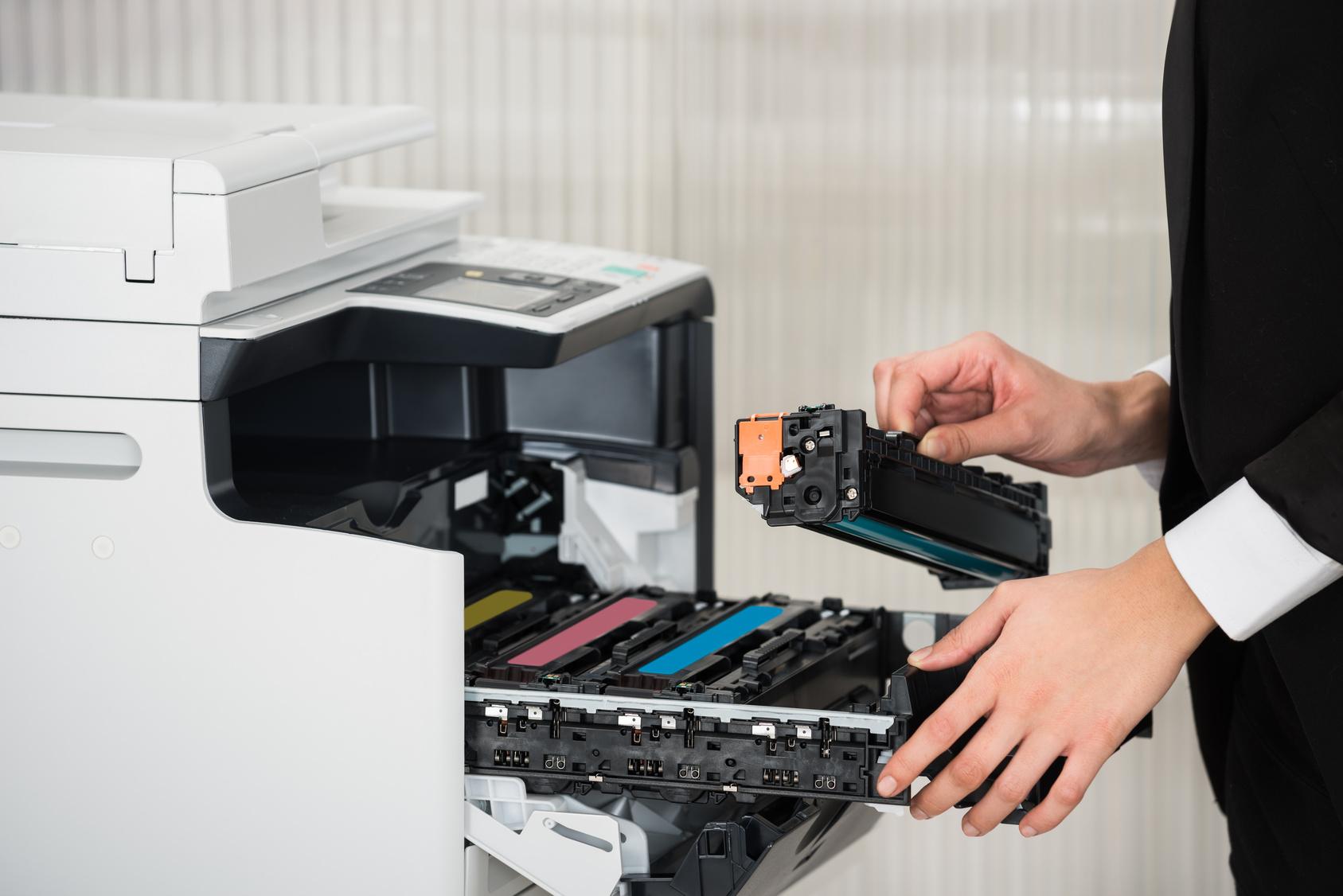 Instalacion de los toner en la impresora